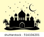 the palace in the middle of the ... | Shutterstock .eps vector #516106201