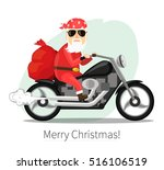 santa claus carries a sack of... | Shutterstock .eps vector #516106519