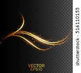 gold glittering wave. vector... | Shutterstock .eps vector #516110155