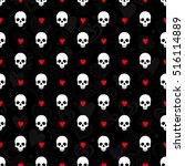 skulls seamless pattern   Shutterstock .eps vector #516114889