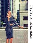 african american business woman ... | Shutterstock . vector #516115111