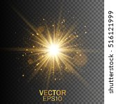 star burst with sparkles. light ... | Shutterstock .eps vector #516121999