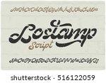bold calligraphic font named ... | Shutterstock .eps vector #516122059