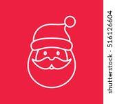 santa claus face beard mustage...