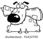 outlined mascot cartoon... | Shutterstock .eps vector #51612745