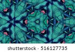 abstract hand painted... | Shutterstock . vector #516127735