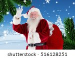 portrait of santa claus... | Shutterstock . vector #516128251