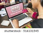 add to cart online shopping... | Shutterstock . vector #516131545
