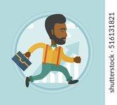 an african businessman running... | Shutterstock .eps vector #516131821