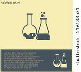 vector illustration test tube... | Shutterstock .eps vector #516133531