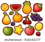 collection set of colorful... | Shutterstock .eps vector #516142177