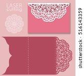 laser cut wedding invitation... | Shutterstock .eps vector #516143359