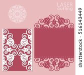 laser cut wedding invitation... | Shutterstock .eps vector #516143449