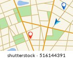 tortuous road  city map with... | Shutterstock .eps vector #516144391