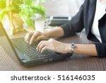 asian business women using... | Shutterstock . vector #516146035