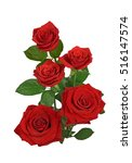 Stock photo red rose isolated on white background 516147574