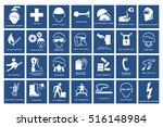 mandatory signs   construction...   Shutterstock .eps vector #516148984