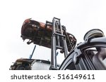 forklift hoisting car wrecks at ... | Shutterstock . vector #516149611