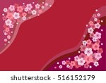japanese apricot and red... | Shutterstock .eps vector #516152179