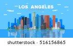 los angeles california  united... | Shutterstock .eps vector #516156865