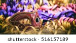 carnival mask on colorful blur... | Shutterstock . vector #516157189