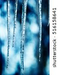 icicles background.selective... | Shutterstock . vector #516158641