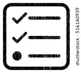 checklist rubber seal stamp...