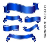 blue silver banners | Shutterstock .eps vector #51616114