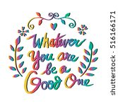 poster with quote whatever you... | Shutterstock .eps vector #516166171
