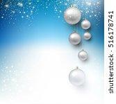 elegant shiny christmas... | Shutterstock .eps vector #516178741