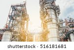 industrial zone the equipment... | Shutterstock . vector #516181681