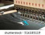 embroidery machine stitching a...   Shutterstock . vector #516185119
