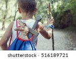 child with smartwatch  | Shutterstock . vector #516189721