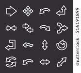 arrows web icons.  forward and... | Shutterstock .eps vector #516191899