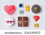 gift boxes for mock up template ... | Shutterstock . vector #516193927