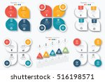 set with infographics. data and ... | Shutterstock .eps vector #516198571