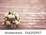 beautiful wedding bouquet on... | Shutterstock . vector #516202957