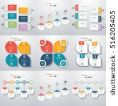 set with infographics. data and ... | Shutterstock .eps vector #516205405
