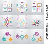 set with infographics. data and ... | Shutterstock .eps vector #516205525