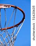 Rusted Basketball Hoop Isolated ...