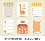 cute note pages  to do list ... | Shutterstock .eps vector #516207859