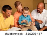 mens small group.  reading ... | Shutterstock . vector #516209467