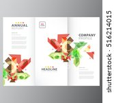 annual business report brochure ... | Shutterstock .eps vector #516214015
