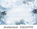 christmas decoration with... | Shutterstock . vector #516214795