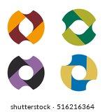 vector round logo template set. ... | Shutterstock .eps vector #516216364