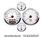 car dashboard. speedometer ... | Shutterstock .eps vector #516220525