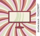 concepts of lcd and tv | Shutterstock .eps vector #516229897