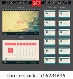 calendar 2017. printable... | Shutterstock .eps vector #516234649