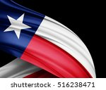 texas  flag of silk with... | Shutterstock . vector #516238471