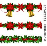 set of n seamless christmas... | Shutterstock .eps vector #516239179
